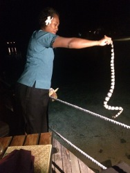 One of the deadliest snakes in the world as it was picked up and thrown into the ocean