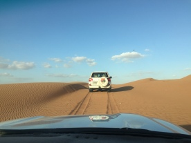 "4WD through the desert. ""Sir, is your wife okay?"""